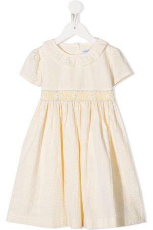 Siola Mädchen Freizeitkleider - Gestreiftes Kleid mit Stickerei