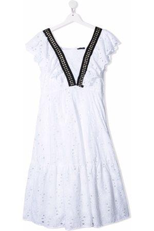 MONNALISA TEEN Kleid mit Lochstickerei