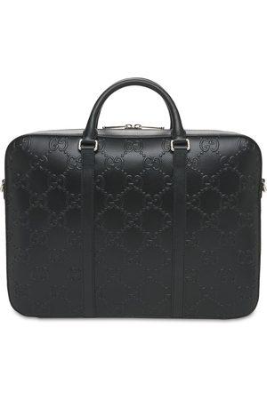 Gucci Herren Laptop- & Aktentaschen - Aktentasche Aus Gg-geprägtem Leder