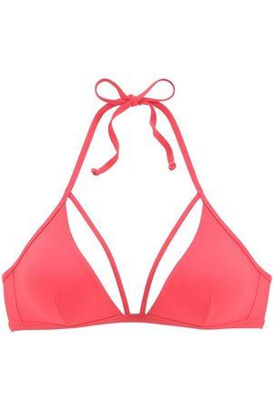 Lascana Damen Bikinis - Triangel-Bikini-Top »Scarlett«, mit Zierbändern am Ausschnitt