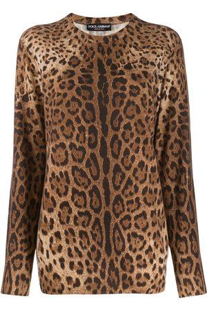 Dolce & Gabbana Kaschmirpullover mit Animal-Print