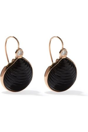 Dezso Damen Ohrringe - Venus Diamond, 18kt Rose- & Onyx Earrings