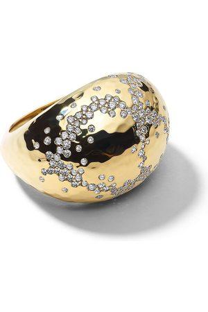 Ippolita Damen Ringe - Gehämmerter 18kt Stardust Gelbgoldring mit Diamanten