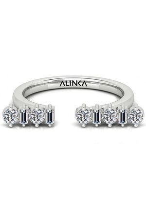 ALINKA 18kt Weißgoldring mit Diamanten
