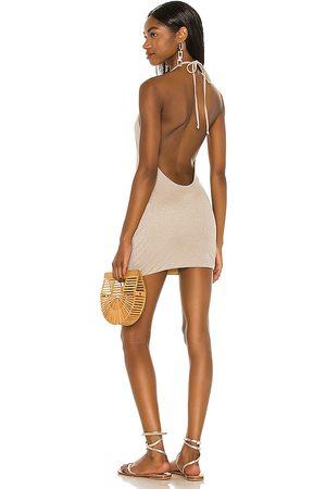 lovewave The Clarke Mini Dress in ,Metallic Gold. Size XXS, XS, S, M, XL.