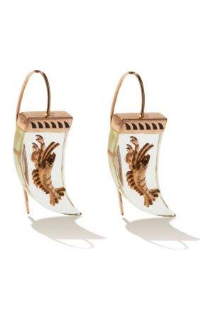 Dezso Damen Ohrringe - Lemon Quartz & 18kt Rose- Earrings