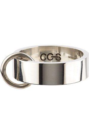 CC-Steding Herren Ringe - Flacher Bandring mit O-Ring