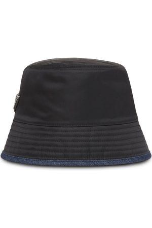 Prada Damen Hüte - Re-Nylon Fischerhut mit Jeanseinsatz