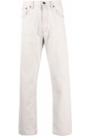 Saint Laurent Halbhohe Straight-Leg-Jeans