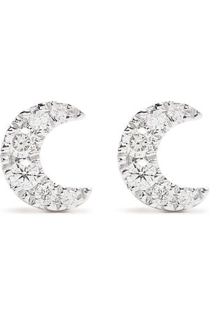 DJULA Herren Ohrringe - 18kt Moon Gelbgoldohrringe mit Diamanten