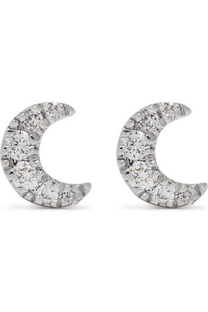 DJULA Herren Ohrringe - 18kt Moon Weißgoldohrringe mit Diamanten