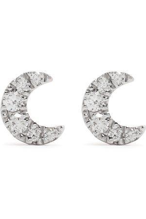 Djula 18kt Moon Rotgoldohrringe mit Diamanten