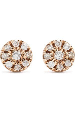 DJULA 18kt Target Rotgoldohrringe mit Diamanten