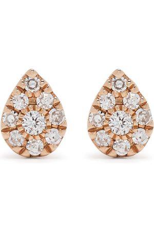 Djula 18kt Pear Rotgoldohrringe mit Diamanten