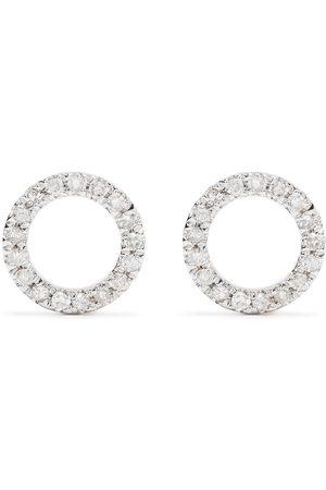 Djula 18kt Circle Gelbgoldohrringe mit Diamanten