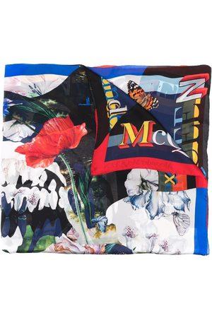 Alexander McQueen Seidenschal mit Rosen-Print