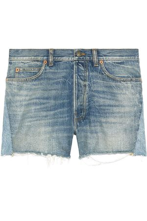 Gucci Jeans-Shorts im Patchwork-Look