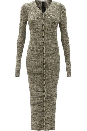 PETAR PETROV Damen Strickkleider - Erica Ribbed Silk Cardigan Dress