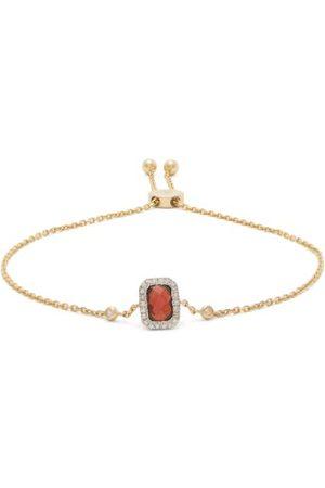 Anissa Kermiche Damen Armbänder - January Diamond, Garnet & Chain Bracelet
