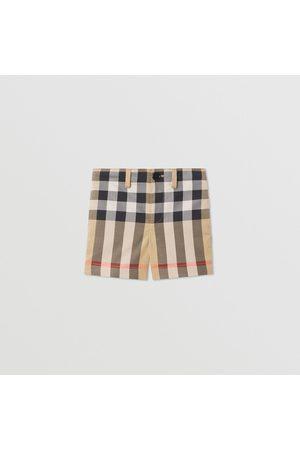 Burberry Stoffhosen - Elegante Shorts aus Stretchbaumwolle mit Karomuster, Size: 12M