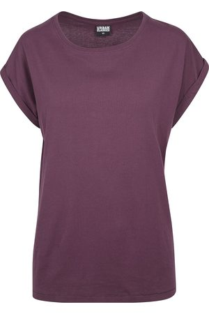 Urban Classics Damen T-Shirts - Ladies Extended Shoulder Tee T-Shirt plum