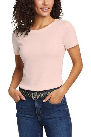 Eddie Bauer Favorite Shirt - Kurzarm mit Rundhalsausschnitt Damen Natur Gr. L