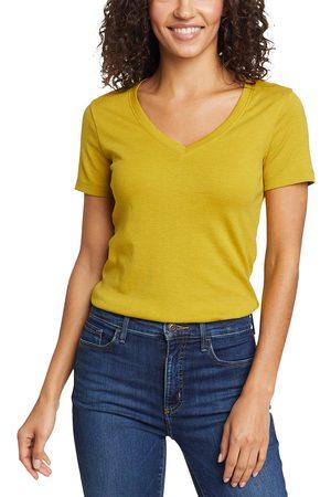 Eddie Bauer Favorite Shirt - Kurzarm mit V-Ausschnitt Damen Gr. L