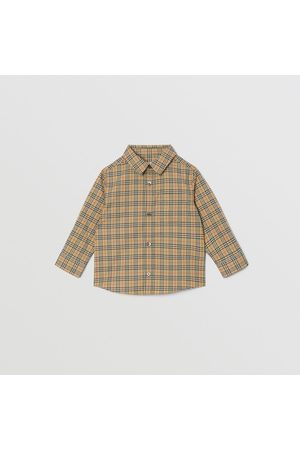 Burberry Hemd aus Stretchbaumwolle mit Karomuster, Size: 12M