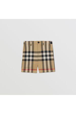 Burberry Stoffhosen - Elegante Shorts aus Stretchbaumwolle mit Karomuster, Size: 10Y