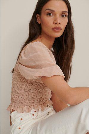Trendyol Damen Blusen - Schulterdetail Bluse - Pink
