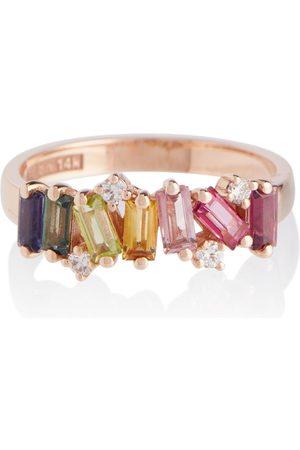 Suzanne Kalan Ring Rainbow aus 14kt mit Diamanten und Saphiren