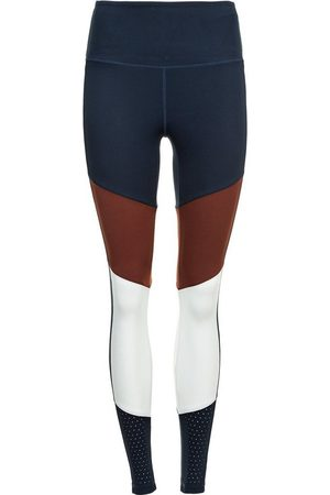 Athlecia Damen Lange Hosen - Lauftights im angesagten Color-Blocking-Look