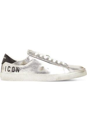"Dsquared2 Sneakers Aus Leder In Metallic-optik ""boxer Icon"""