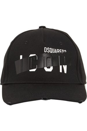 Dsquared2 Herren Caps - Kappe Aus Baumwollgabardine Mit Icon-klebeband