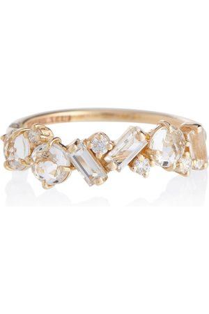 Suzanne Kalan Damen Ringe - Ring Amalfi aus 14kt Gelbgold mit Diamanten und Topasen