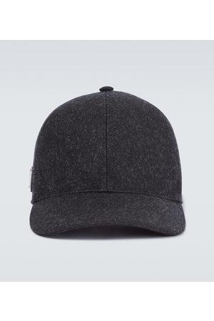Prada Hüte - Baseballcap Loden aus Schurwolle