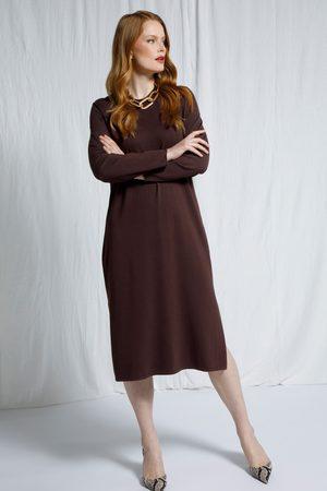 Ulla Popken Damen Strickkleider - Strickkleid, Damen