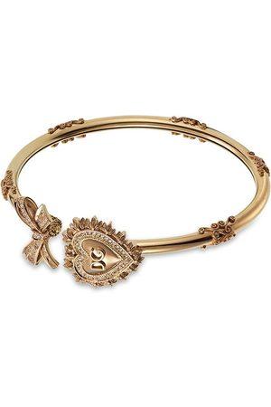 Dolce & Gabbana Damen Armbänder - 18kt Devotion Gelbgoldarmband mit Diamantenherz