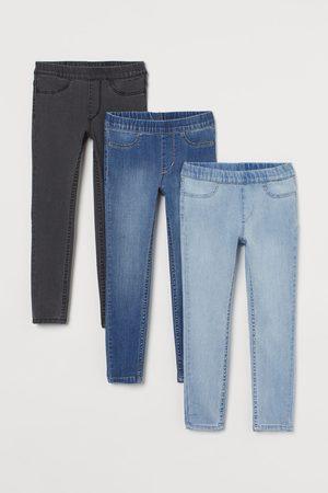 H&M Mädchen Leggings & Treggings - 3er-Pack Denimleggings