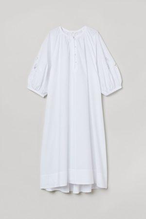 H & M Damen Tunikakleider - Kaftankleid aus Baumwolle