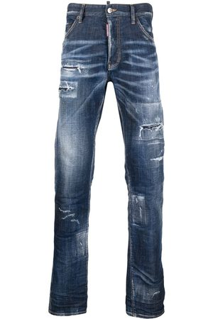 Dsquared2 Herren Bootcut - Bootcut-Jeans im Distressed-Look