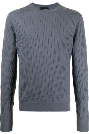 Emporio Armani Geometric-effect knitted jumper
