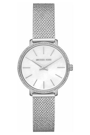 Michael Kors Uhr Pyper Two-Hand Stainless Steel Watch silber