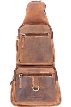 Greenburry Vintage Umhängetasche Leder 20 cm, brown