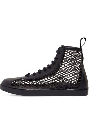 "Gianvito Rossi 20mm Hohe Sneakers Aus Mesh Und Leder ""helena"""