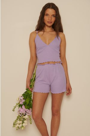 NA-KD Recycelt Babylock Mini-Shorts - Purple