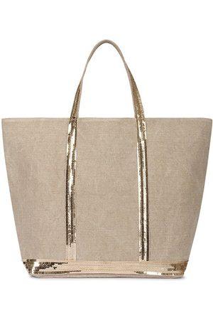 Vanessa Bruno Damen Handtaschen - Leinen und Pailletten L Cabas Tote