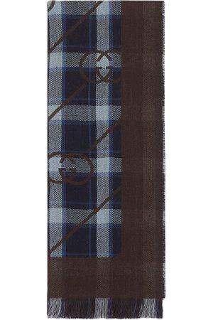 Gucci Karierter Schal mit GG-Streifen