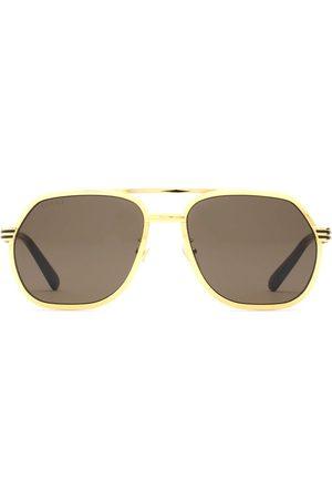 Gucci Pilotenbrille mit Doppelsteg