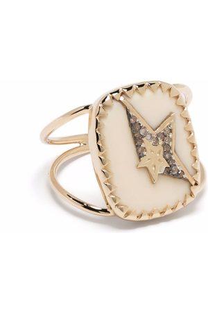Pascale Monvoisin 9kt Varda N°1 Gelbgold- und Sterlingsilberring mit Bakelit und Diamantstern